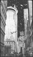 Manhattan Retro Futurism 2 by Farzelgaart
