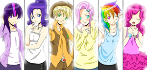 MLP gals by zombielover94