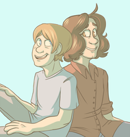 Ross and Dan by pkstarst0rm