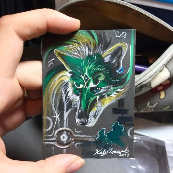 Wolf Link ACEO by Lucky978