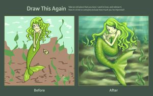 Draw this Again: Little Mermaid by Keks--Kruemel