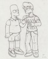 Bart and Eric 2016 sketch. by simpspin