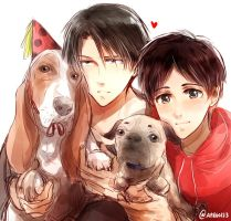 SNK -- Dogs partheyyyyyy by aphin123