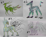 Creature Adoptables Batch 2 - 2 LEFT by Kyra-Adoptables
