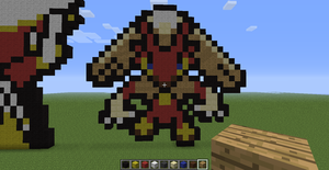 Minecraft Blaziken overworld sprite by Tigereagle