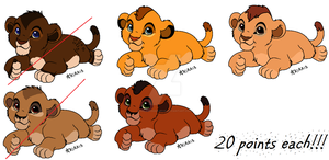 Adoptable Cubs by xXBehindTheShadowsXx