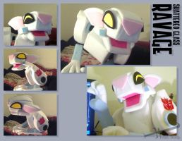 Shattered Glass Ravage Puppet by TrentTroop