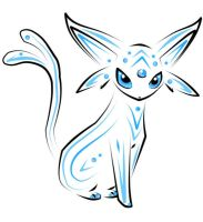 blue espeon by Evil-Ylle