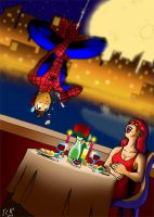 The Spider and the Fly Girl. by SketchBravo