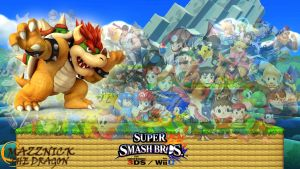SSB4 Wallpaper Bowser by Mazznick