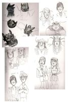 Train Your Dragon sketchies by casetuck