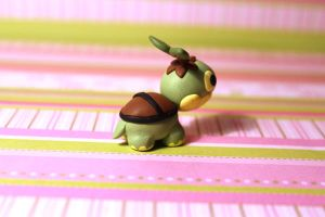 Back view Turtwig desk buddy by KiwiPheonix