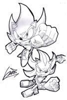 Super sonic and Super shadow by venom34