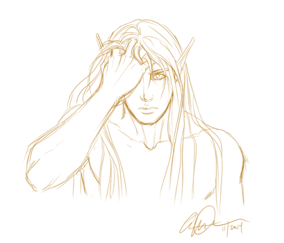 15 minute sketch prompt - jael by anniecoleptic
