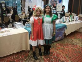 Animefest '12 - Flan and Green Maid Girl by TexConChaser
