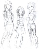 Issy, Clary and Maia - MI - CC by Fadding-Memories