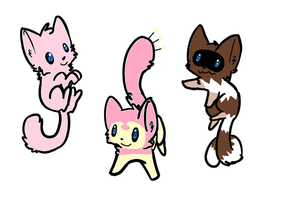 Pokemon Cat Adoptables 2 Open by Raysaur
