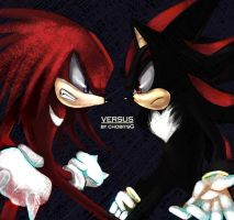Knuckle VS Shadow by chobitsG
