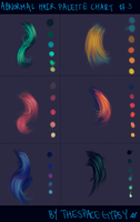 Abnormal Hair Color Palettes: Supplement Chart #3 by StarshipSorceress