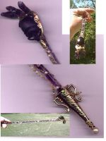 Wiccan Wand with real Scarab by ginginny