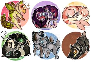 .: Mini Chibi Commission Batch :. by SillyTheWolf