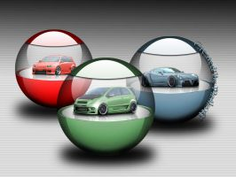 Cars in orbs by paskoff
