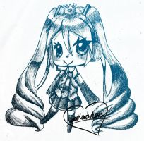 Miku Sketch by liferaven