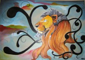 Lion by stormwillow2