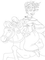 Lineart of Sarai Riding by jessijoke