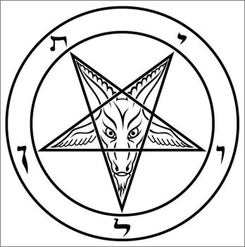 Baphomet in curves by Yukito85