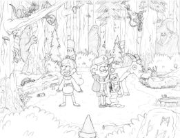 Out of the Mystery Shack WIP by Patrona