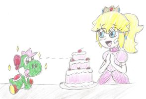 Peach and Apper baked a cake V2 by MomokoTuHarumaki