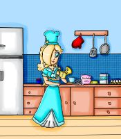 making a cake with my mother by ninpeachlover