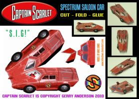 Captain Scarlet - Spectrum Car by mikedaws