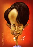 Aung San Suu Kyi - Caricature by libran005