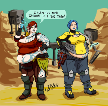 Commission: Bigger in Borderlands by Idle-Minded