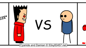 Damian versus Cyanide and Happiness close up (DV) by 53xy83457