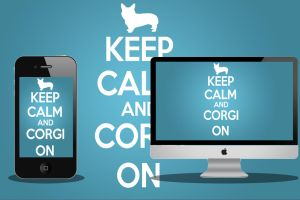 Keep Calm and Corgi On [1920x1080] and iPhone by discoveree