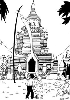 Tintin and the temple of Siam by Ad1er