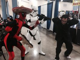 Doctor got capture by a storm trooper and deadpool by nicoflare