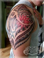 Maori with flower by state-of-art-tattoo