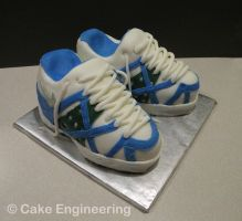 Nike Shoe cake by cake-engineering
