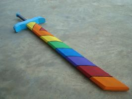 Mecha Dash Rainbow Sword by RebelATS