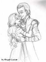 Loki x Sigyn Drawing by MademoiselleMeg