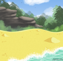 Free To Use Scenery-BEACH- by Songficcer