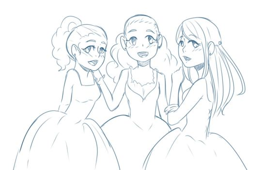 The schuyler sisters on yayhamlet deviantart for Hamilton coloring pages