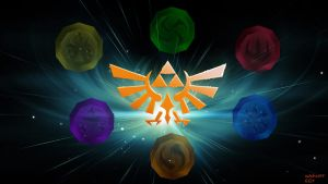 Legend of zelda OOT Six Sages Medallion Wallpaper by adchv09