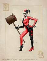 Harley Quinn Pinup Art by Matt Johnson by ceramicmatt