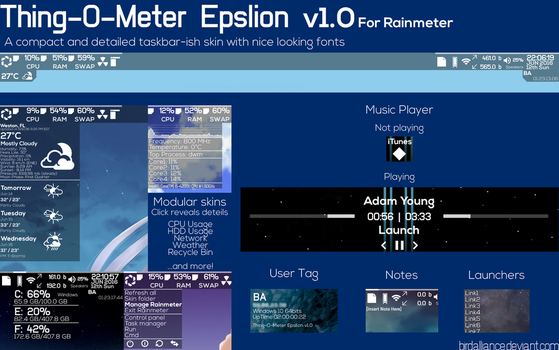 Thing-O-Meter Epslion v1.0 for Rainmeter by BirdAlliance