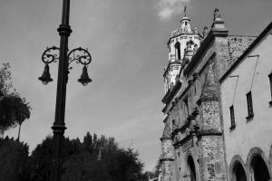 Lamp post and a Church by deliquescing
